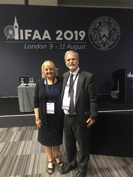 O novo Secretário Geral da IFAA, Professor Doutor Diogo Pais e a reeleita Presidente da IFAA, Professora Doutora Beverley Kramer